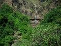 Mountainside waterfall Royalty Free Stock Photo