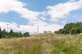Mountainside of zar mountain in range little beskids Royalty Free Stock Photography
