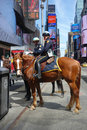 Mounted cops two police officers in times square new york Royalty Free Stock Photography
