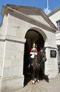 Mounted trooper of the Household Cavalry on duty at Horse Guards
