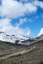 Mountian scenery the landscape of sejila mountain pass in tibet china Royalty Free Stock Images