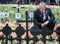 Mourner at Remembrance sunday Stock Photos