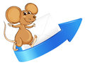 Mouse arrow and envelop illustration of a on a white background Royalty Free Stock Photo