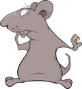 Mouse cartoon the surprised grey big Stock Photo