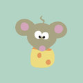Mouse And Cheese Royalty Free Stock Photo