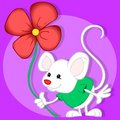 Mouse and flower Stock Photography