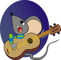 Mouse with a guitar Stock Image
