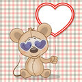 Mouse with heart frame Royalty Free Stock Photo
