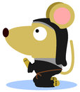 Mouse monk illustration of a praying dressed like a Royalty Free Stock Image