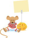 Mouse and Note Holder Royalty Free Stock Images