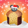 Mouse of panettone illustration Stock Photography