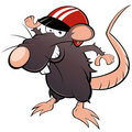 Mouse in racing helmet Royalty Free Stock Photo