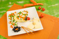 Mouse salad healthy food for children served in an attractive way Royalty Free Stock Image