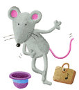 Mouse street performer acrylic illustration of Royalty Free Stock Photography