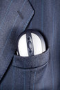 Mouse in suit pocket computer a breast of a formal business Stock Photo
