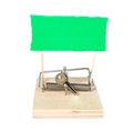 A mouse trap with keys Stock Photography