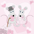 Mouse wedding greeting card Royalty Free Stock Images