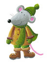 Mouse in winter clothes Stock Photos