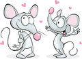 Mouses in love isolated Royalty Free Stock Photo