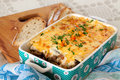 Moussaka eggplant greek traditional cuisine Stock Photos