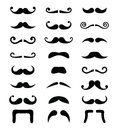 Moustache icons isolated set Royalty Free Stock Photo