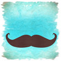 Moustache retro background Stock Photos