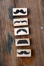 Moustaches rubber stamp. Movember men`s health awareness concept. Royalty Free Stock Photo
