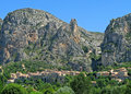 Moustiers panorama Stock Photography