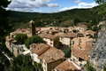 Moustiers sainte marie in de provence Stock Foto