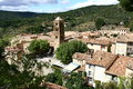 Moustiers sainte marie in provence france Royalty Free Stock Image