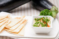 Moutabal baba ghanoush eggplant dip Royalty Free Stock Photography