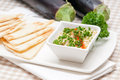 Moutabal baba ghanoush eggplant dip Stock Photo