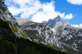 Moutain landscape in val di mello mountain from masino italy Royalty Free Stock Photos