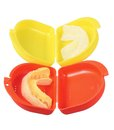 Mouth guards on white background Stock Photos