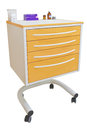 Movable bedside table medical isolated under the white background Stock Photography