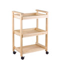 A movable wooden shelf Stock Photos
