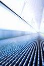Move escalator in modern office Stock Image