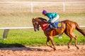 Move ng shot jocky and horse racing sport moving jocking at korat thailand january Stock Images