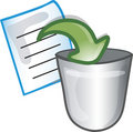 Move to Trash icon Stock Images