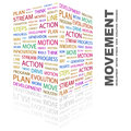 Movement concept illustration graphic tag collection wordcloud collage Stock Image
