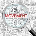 Movement word cloud concept illustration wordcloud collage Royalty Free Stock Photo