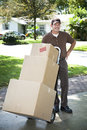 Mover Arrives Royalty Free Stock Photo