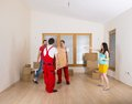Movers in new house Royalty Free Stock Photo