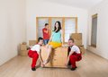 Movers in new house Royalty Free Stock Photos
