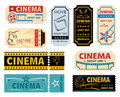 Movie admission collection off vintage and retro cinema tickets Stock Photo