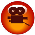 Movie camera web button Royalty Free Stock Photography