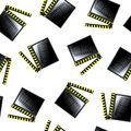 Movie cinema clapboard pattern Stock Photography