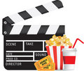 Movie and cinema icon set Royalty Free Stock Photo