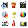 Movie and cinema icons | Bella series Royalty Free Stock Photography