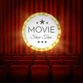 Movie cinema premiere poster design. Vector banner